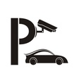 symbol guarded parking vector image vector image