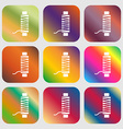 Thread Icon sign Nine buttons with bright vector image