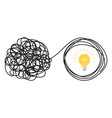 unraveling tangled tangle vector image