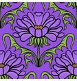 Vintage floral damask pattern vector image vector image