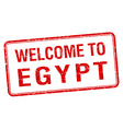 welcome to Egypt red grunge square stamp vector image vector image