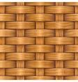 wooden basket weaving vector image vector image