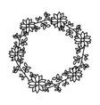 wreath flowers leaves vector image vector image