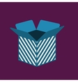 Carton opened Package Box icon vector image