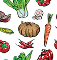 Hand drawn collection of organic vegetables vector image