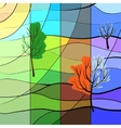 One landscape in four sesons vector image