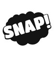 comic boom snap icon simple black style vector image
