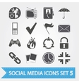 Social media icons set 5 vector image