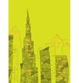 UAE skyline vector image