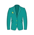 Mans green jacket icon cartoon style vector image
