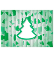 Abstract Background Christmas Tree Shape vector image vector image