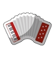 accordion instrument isolated icon vector image vector image