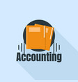 accounting folder logo flat style vector image