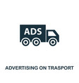 advertising on trasport icon premium style design vector image vector image