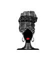 african scarf portrait afro women in a turban vector image