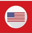 American Flag Flat Icon vector image vector image