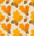 autumn oak acorn pattern vector image vector image