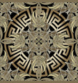 baroque 3d gold seamless pattern greek vector image vector image