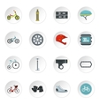 Bicycling icons set flat style vector image vector image
