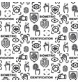 biometric identification pattern vector image