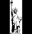 Black silhouette of the Statue of Liberty