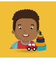 boy toys happy cartoon vector image vector image