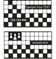business cards with chess vector element vector image vector image