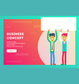 business conceptbusinessmen are holding a sheet vector image