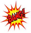 cartoon comic bang explosion blast vector image vector image