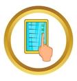 Checklist with hand icon vector image