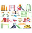 children swings ladders slide outdoor fun vector image vector image
