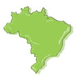 comic drawing of a map of brazil vector image vector image