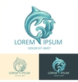 Dolphin Logo Template vector image