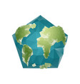 earth polygon planet geometric figure pentagon vector image vector image