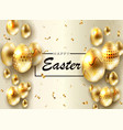 easter light composition eggs with a pattern on vector image vector image
