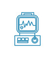 ecg examination linear icon concept ecg vector image