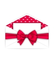 Envelope with Clean Card and Pink Bow Ribbon for vector image vector image