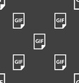 File GIF icon sign Seamless pattern on a gray vector image vector image
