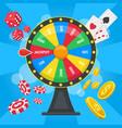 fortune wheel concept casino lucky wheel game vector image vector image