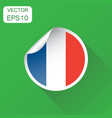 france sticker flag icon business concept france vector image