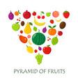 fruits random piramyda on white vector image vector image