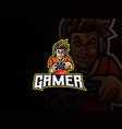 gamer mascot sport logo design vector image
