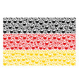 germany flag mosaic of retort items vector image