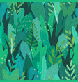 green magical forest vector image