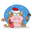 Happy Christmas Calf vector image vector image