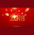 happy new year card over red background vector image