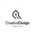 home reality creative business logo vector image vector image