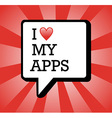 I love apps background vector image vector image