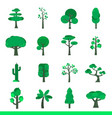 iicon set of green trees vector image vector image