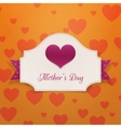 Mothers Day greeting Banner with big Heart vector image vector image